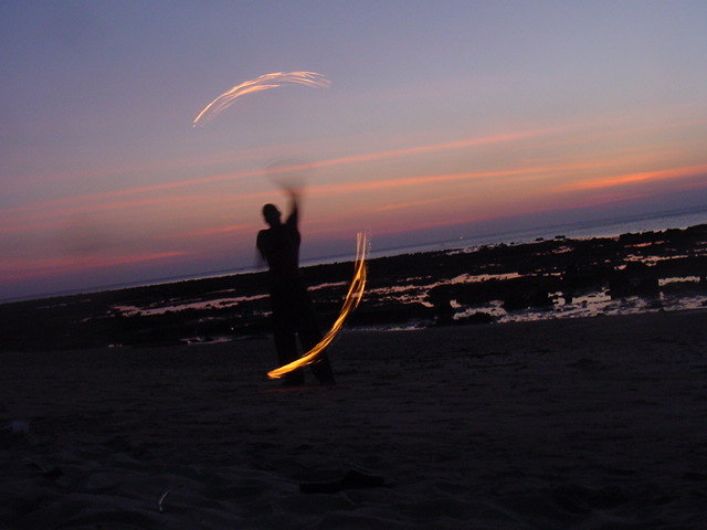 fire poi performers